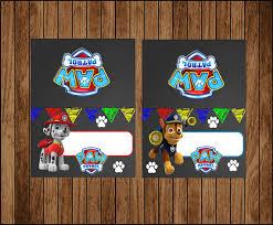 chalkboard paw patrol food labels printable paw patrol food paw
