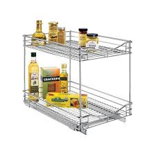 lynk professional pull out double drawer 2 tier sliding cabinet