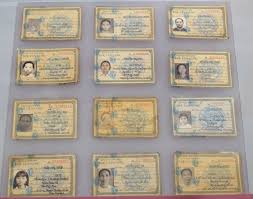 file false identity cards used by revolutionaries 1971