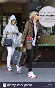 rita ora seen leaving coco nail bar with her stylist after