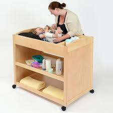 Changing Table Mobile Wooden Baby Changing Unit