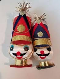 vintage set of 3 hinged porcelain trinket box ornaments