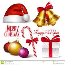 christmas symbols set 2 stock vector image of bell cartoon