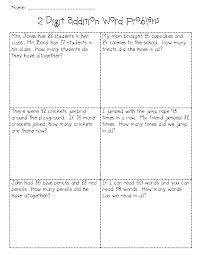 2 Digit Addition Worksheets 2 Digit Subtraction With Regrouping Word Problems Boxfirepress