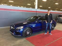 blue mercedes lucas takes home a brilliant blue c300 coupe