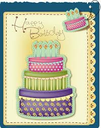 birthday greeting card design vector 1
