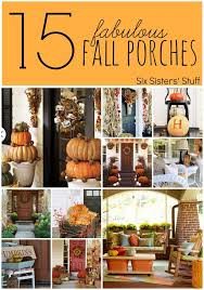 Pinterest Fall Decorations For The Home Gorgeous Fall Front Porch Inspiration Porch Holidays And
