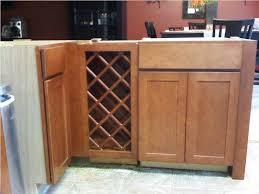 cherry wood orange zest glass panel door kitchen cabinet wine rack