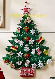 bucilla nordic christmas tree felt advent calendar kit 86584
