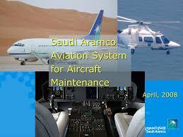 Aircraft Maintenance Tracking Spreadsheet Saudi Aramco Aviation System For Aircraft Maintenance April Ppt