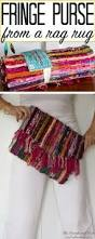 diy fringe purse from a rag rug the heathered nest