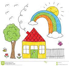 House Drawing House With Doodle Smoke Vector Stock Photo Image 34741590