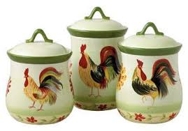 rooster canisters kitchen products rooster canisters kitchen products blue set ceramic canistersold
