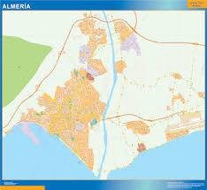 Almeria Spain Map by Almeria Mapa Vinilo Digital Maps Netmaps Uk Vector Eps U0026 Wall Maps