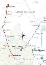 Mexico City Neighborhood Map by Map Of Mexico City Train Ferrocarril Suburbano Stations U0026 Lines