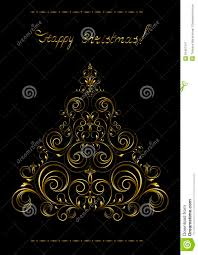 gold openwork christmas tree with crosses royalty free stock