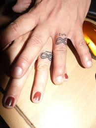 couples wedding ring tattoos wedding rings