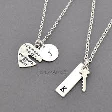 couple necklace key images Key to my heart couple necklace mr mrs hand stamping jewelry jpg