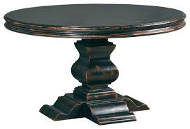Aspen Round Dining Table Antique Ebony Dining Tables Other - Antique round kitchen table