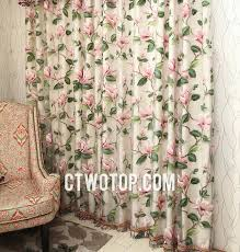 Pink Flower Curtains And Pink Country Unique Beautiful Primitive Floral Curtains