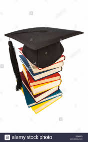 where to buy graduation caps graduation cap on a stack of books symbol picture for education