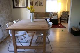 Birch Dining Table And Chairs Kitchen Ideas Ikea Birch Table Ikea Folding Chairs Wishbone
