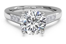 channel set engagement rings cut solitaire channel set band engagement ring in
