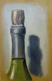 one painting a day wine bottle sketch