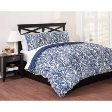 east end living vintage paisley 3 piece bedding duvet set blue