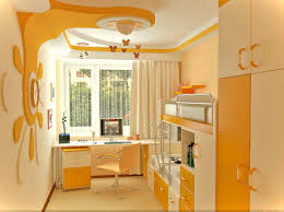 elite home decor bedroom sweet yellow girls bedroom decoration with a set of study