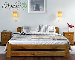Solid Wood Bed Frames Uk New Solid Wooden Pine Bed Frame One With Plywood Slats Oak