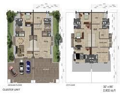 cluster home floor plans cluster house floor plan