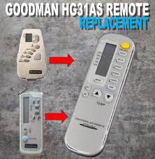 amana goodman mcquay replacement ac remote part b1100108 model
