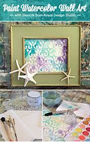 painting stencils for wall art paint watercolor wall art with stencils paint pattern