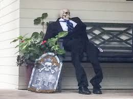 halloween countdown neighborhood decorations and scarecrow mix