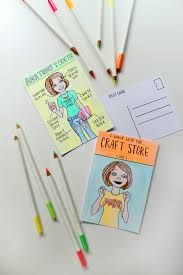 crafter inspired coloring postcard free printable