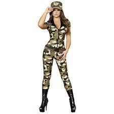 Womens Camo Halloween Costumes Roma Military Costumes Women Ebay