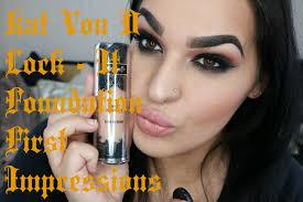 kat von d 44 light cool first impression kat von d lock it foundation light 48 youtube