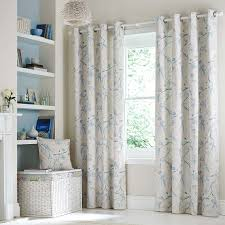Lined Cotton Curtains Duck Egg Laila Lined Eyelet Curtains Dunelm House Pinterest