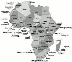 African Countries Map Impact Of Human Immunodeficiency Virus Infection On Cardiovascular