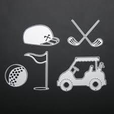 golf sport set scrapbook diy album card paper card maker metal die