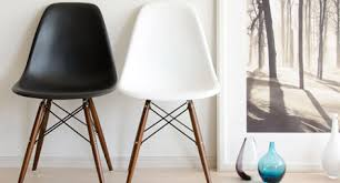 Eames Dining Chair Eames Style Dsw Molded White Plastic Dining Shell Chair With Dark