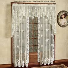 floral lace window treatment