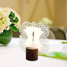 Vintage Table Number Holders Rustic Wedding Table Number Cards With Wooden Holder 10 Or 20 Pcs