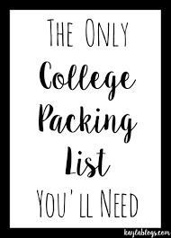 College Packing Checklist Prep Avenue College Packing List A Lot Of This I Think Is