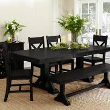 rustic java greyson fixed dining table chandeliers room and house