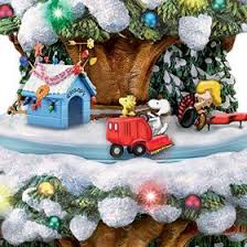 peanuts christmas characters bradford exchange a peanuts christmas tabletop christmas tree with