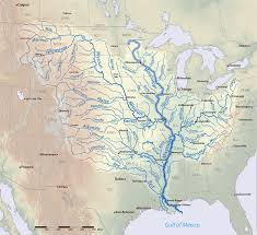 Mississippi Map Usa by Mississippi River American Rivers