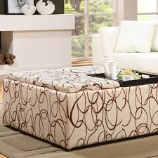furniture oversized ottoman for exciting coffee table design