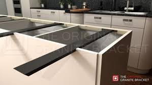 Kitchen Island Granite Countertop Granite Support Tips And Brackets Guide